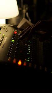 Preview wallpaper dj console, dj, hand, equipment, music, dark