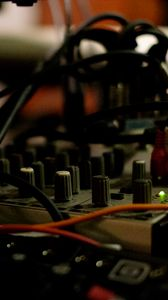 Preview wallpaper dj console, equipment, wires, music