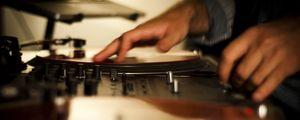 Preview wallpaper dj, vinyl, equipment, hands, music
