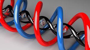 Preview wallpaper dna, plexus, spiral, shape, figure