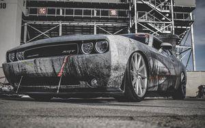 Preview wallpaper dodge challenger, dodge, challenger, sports car, racing, lights, bumper, wheel