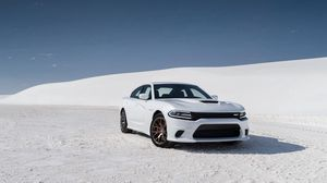 Preview wallpaper dodge, challenger, srt, white, side view