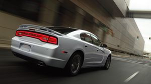 Preview wallpaper dodge, charger, auto, silver, movement