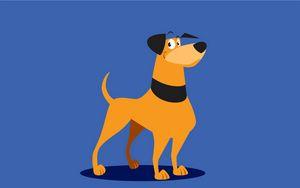Preview wallpaper dog, art, cute, illustration