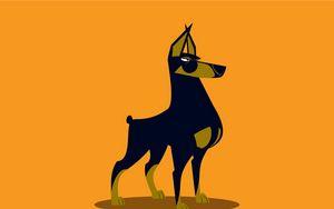 Preview wallpaper dog, art, dobermann