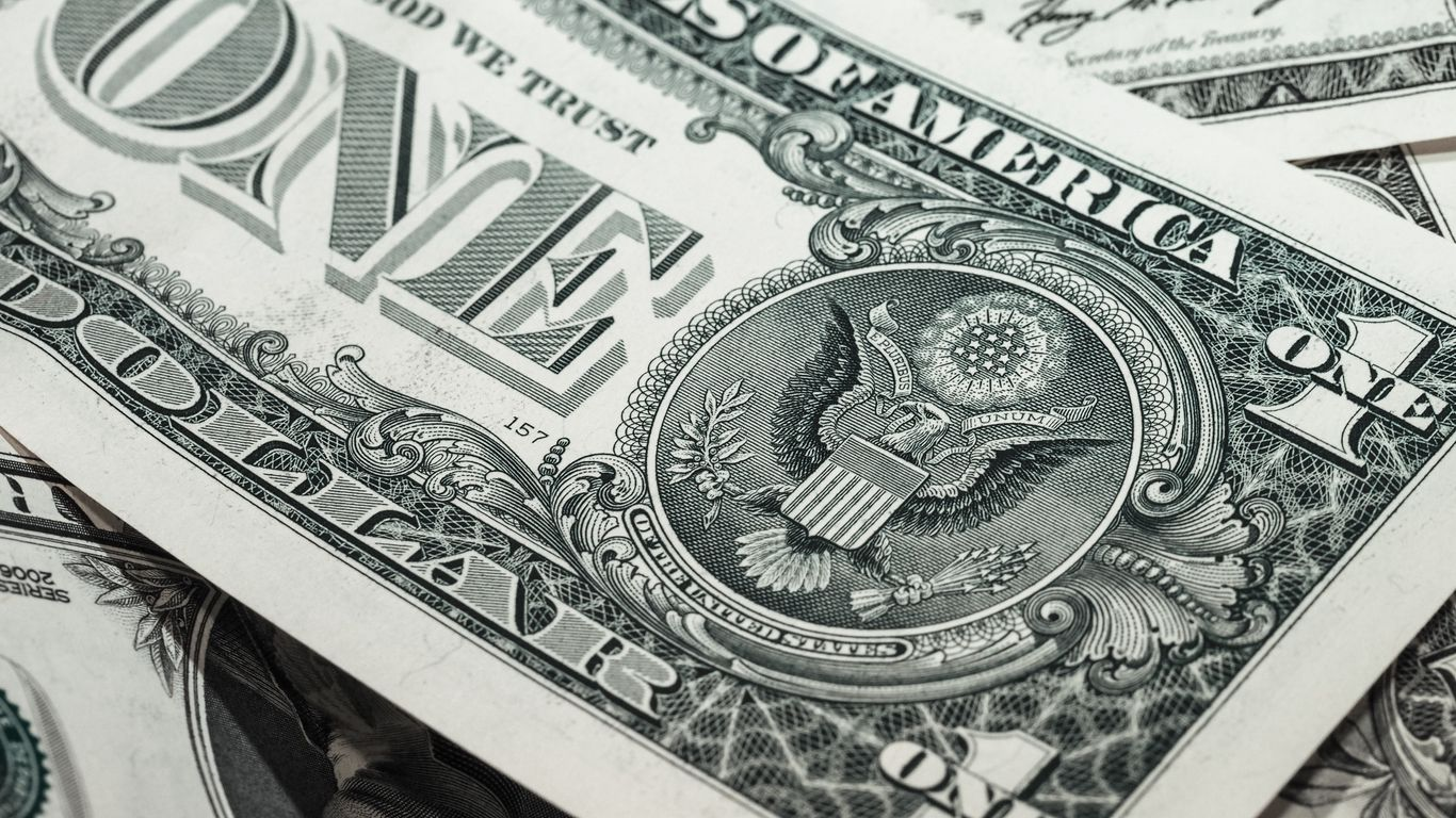 1366x768 Wallpaper dollar, bill, banknote