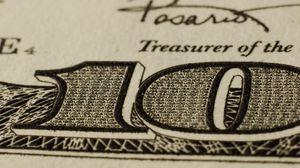 Preview wallpaper dollar, ten, note, number, paper