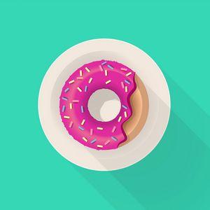 Preview wallpaper donut, glaze, pastries, plate, art