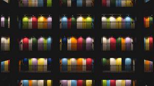 Preview wallpaper door, multi-colored, tokyo, japan