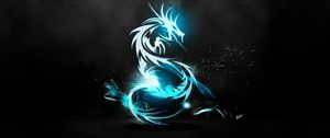 Preview wallpaper dragon, classical, light, luster, surface, background