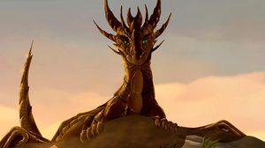 Preview wallpaper dragon, creature, fiction, art