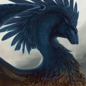 Preview wallpaper dragon, fantasy, art, feathers