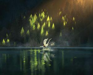 Preview wallpaper dragon, friends, fantasy, art