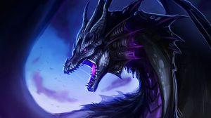 Preview wallpaper dragon, grin, fantasy, creature, art