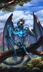 Preview wallpaper dragon, skeleton, wings, creature, magical, fabulous