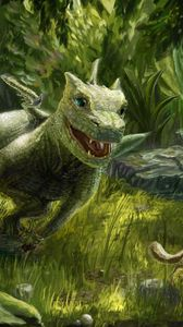 Preview wallpaper dragon, small, squirrel, game, green, nature