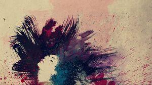 Preview wallpaper drawing, paint, hair, dark
