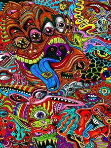 Preview wallpaper drawing, surreal, colorful, psychedelic
