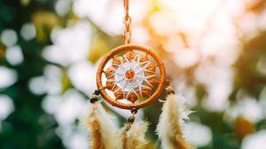 Preview wallpaper dreamcatcher, amulet, weave, blur
