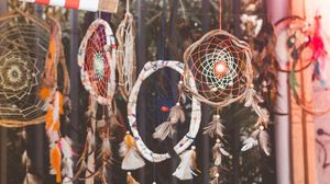 Preview wallpaper dreamcatcher, feathers, decoration
