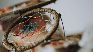Preview wallpaper dreamcatcher, feathers, decoration, close-up