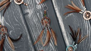 Preview wallpaper dreamcatcher, mascot, decoration, feathers