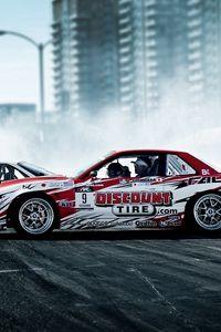 Preview wallpaper drift, nissan, sport, cars, smoke