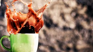 Preview wallpaper drink, coffee, splash, cup