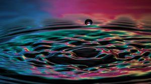 Preview wallpaper drop, liquid, spray, color, splash