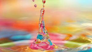 Preview wallpaper drop, water, liquid, spray, splash