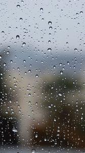 Preview wallpaper drops, glass, rain, surface