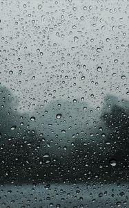 Preview wallpaper drops, rain, glass, wet