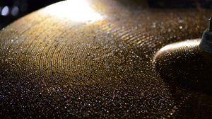 Preview wallpaper drum cymbal, drops, wet, macro, music