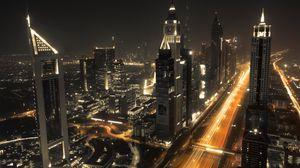 Preview wallpaper dubai, architecture, buildings, night