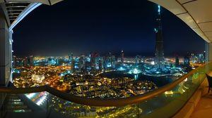 Preview wallpaper dubai, burj dubai, night, lights, summer, beauty, city