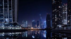 Preview wallpaper dubai, city, lights
