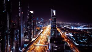 Preview wallpaper dubai, united arab emirates, night city