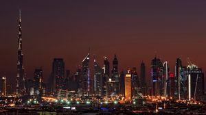 Preview wallpaper dubai, united arab emirates, night, home, high-rise