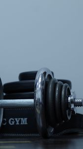 Preview wallpaper dumbbells, gym, weight, disks