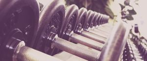 Preview wallpaper dumbbells, sports, gym