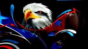 Preview wallpaper eagle, art, graffiti, wall