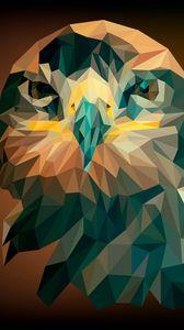 Preview wallpaper eagle, bird, geometric, art