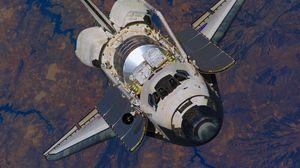 Preview wallpaper earth, orbit, shuttle, height, flight