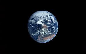 Preview wallpaper earth, planet, black, minimalism