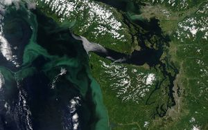 Preview wallpaper earth, planet, islands, view from space