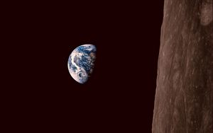 Preview wallpaper earth, planet, night, black