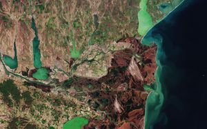 Preview wallpaper earth, planet, sea, view from space, space