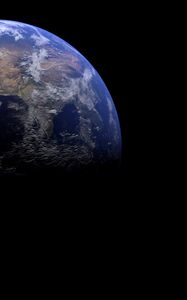 Preview wallpaper earth, planet, shadow, space