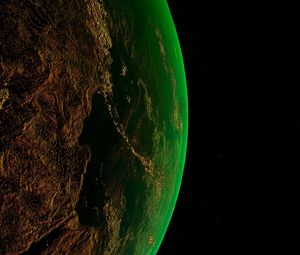Preview wallpaper earth, planet, space, atmosphere, universe