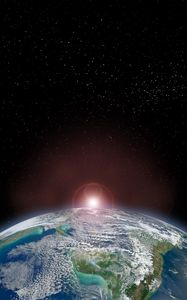 Preview wallpaper earth, planet, space, climate, stars, shine
